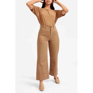 EVERLANE The Lightweight Wide Leg Crop Chino Pants